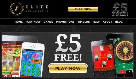 Elite Mobile Casino £5 Free
