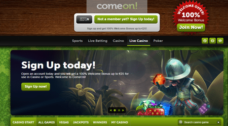 Relish Best Offers at ComeOn Casino