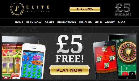Elite Mobile Casino £5 Free