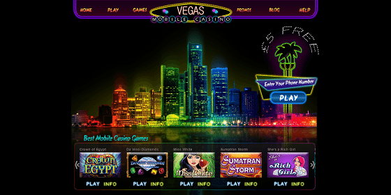 Vegas Mobile Casino Games