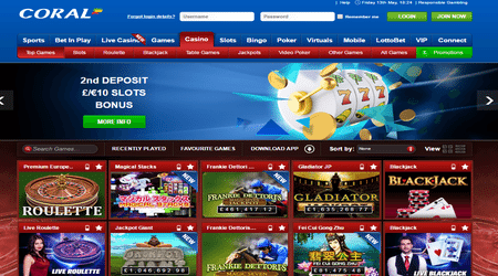 Coral casino sign up offer